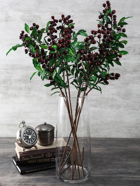 Pure Home and Living Transparent Handmade Glass Vase