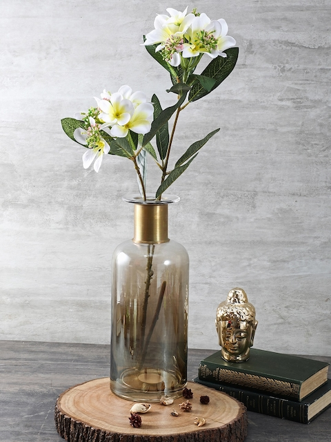Pure Home and Living Transparent Large Luster Vase