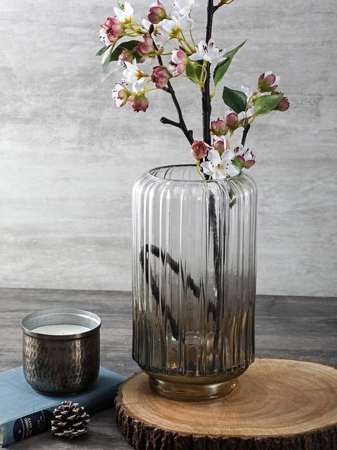 Pure Home and Living Transparent Medium Luster Vase