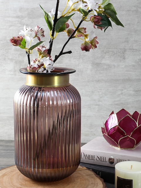 Pure Home and Living Purple Small Luster Vase