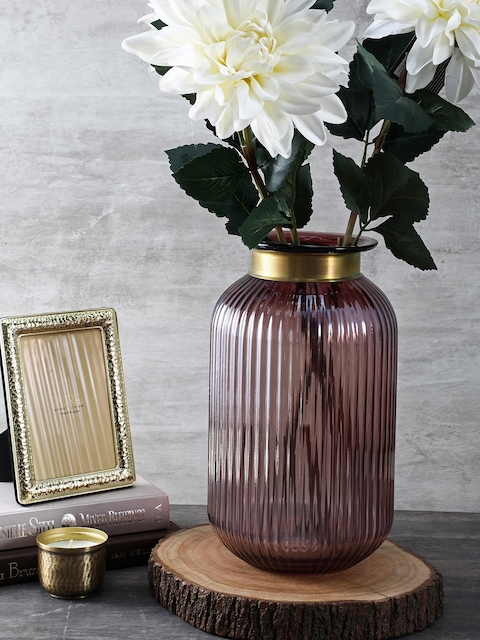 Pure Home and Living Purple Large Luster Vase