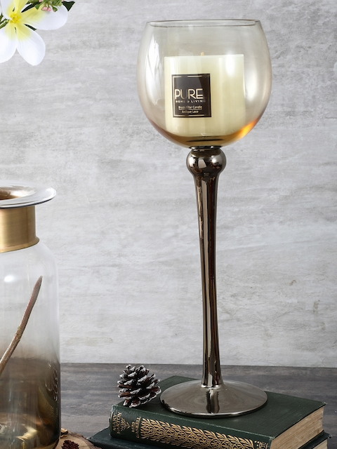 Pure Home and Living Gold-Toned Candle Holder