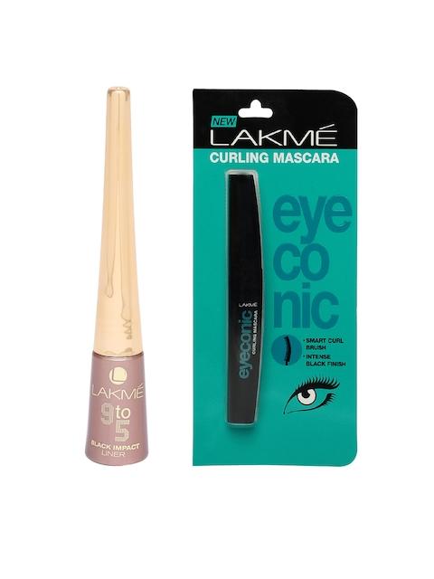 Lakme Eyeconic Curling Mascara & Black Impact Eyeliner