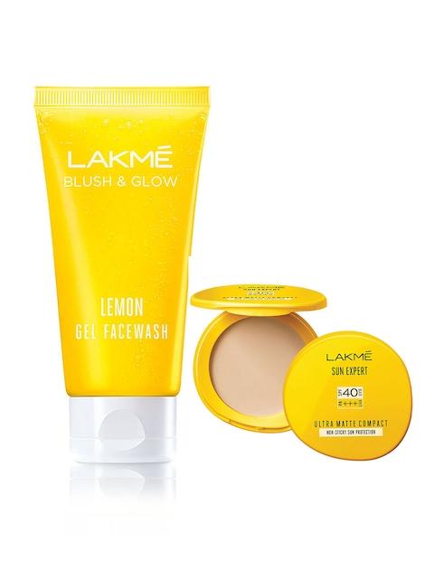 Lakme Sun Expert Ultra Matte Compact & Blush and Glow Lemon Face Wash