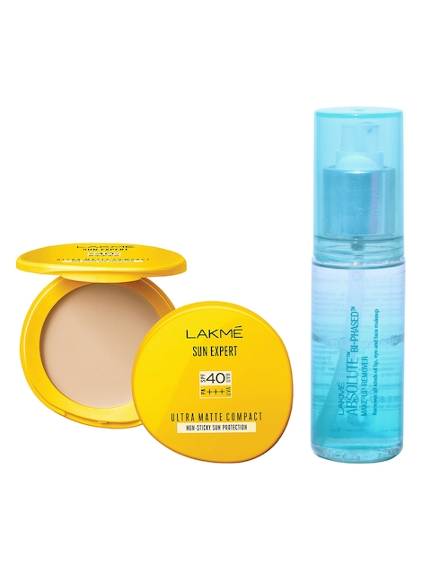 Lakme Absolute Bi-Phased Make-Up Remover & Sun Expert Ultra Matte Compact
