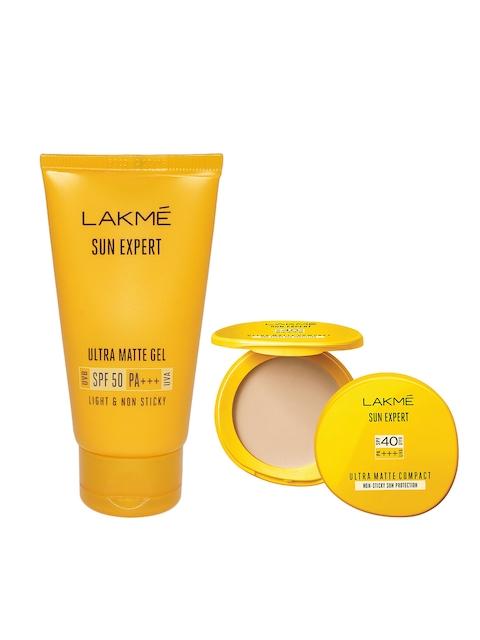 Lakme Sun Expert Ultra Matte SPF 50 Gel Sunscreen & Ultra Matte SPF 40 PA+++ Compact