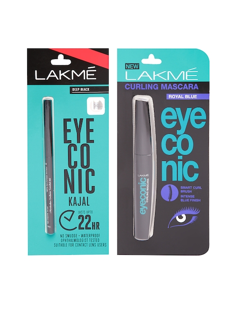 Lakme Eyeconic Deep Black Kajal & Royal Blue Curling Mascara
