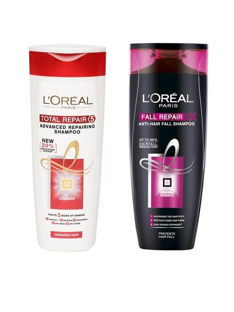 LOreal Paris Total Repair 5 Repairing Shampoo & 3X Anti-Hair Fall Shampoo 360 ml
