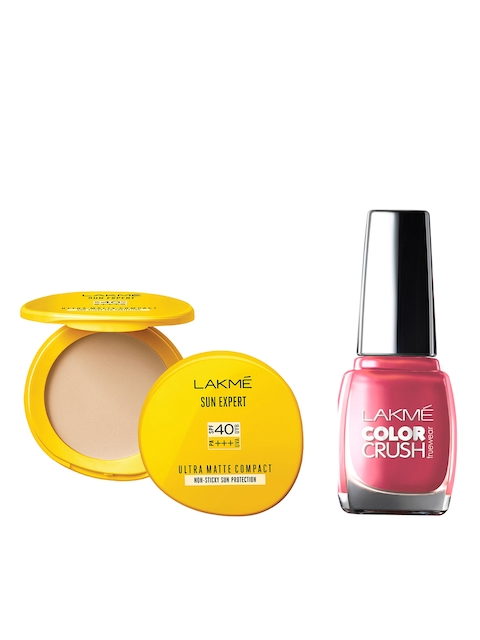 Lakme Ultra Matte SPF 40 Compact & Color Crush Nail Polish