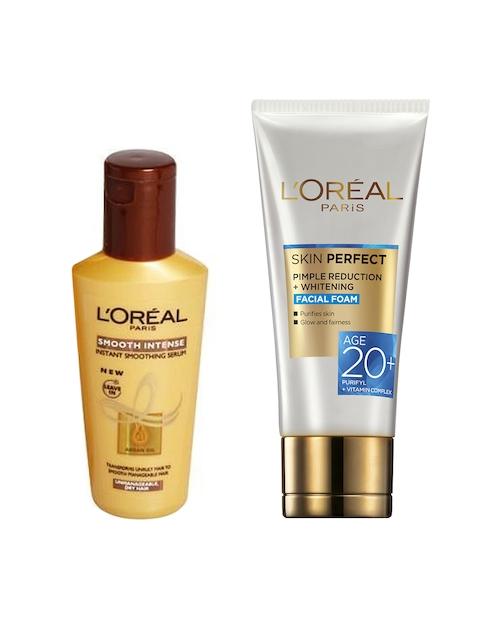 LOreal Paris Smooth Intense Smoothing Serum & Facial Foam Face Wash