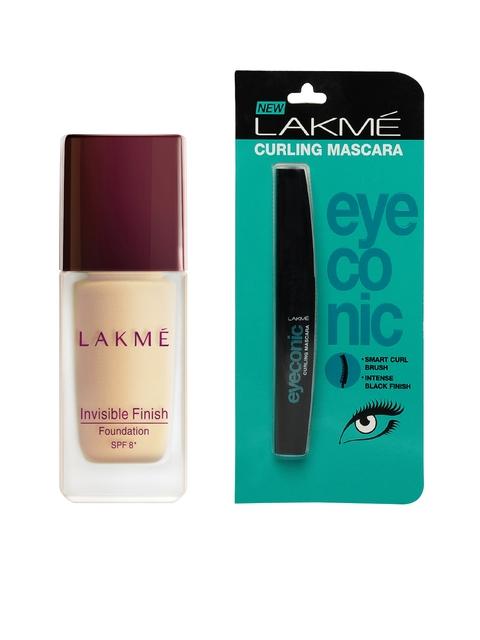 Lakme Eyeconic Curling Mascara & Invisible Finish Foundation