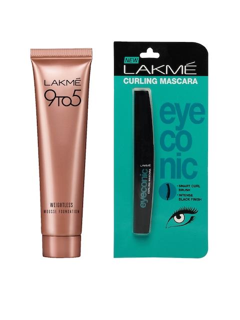Lakme Eyeconic Curling Mascara & Rose Ivory Weightless Mousse Foundation