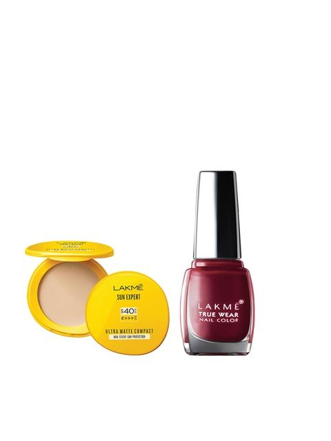 Lakme Set of Nail Polish & Compact
