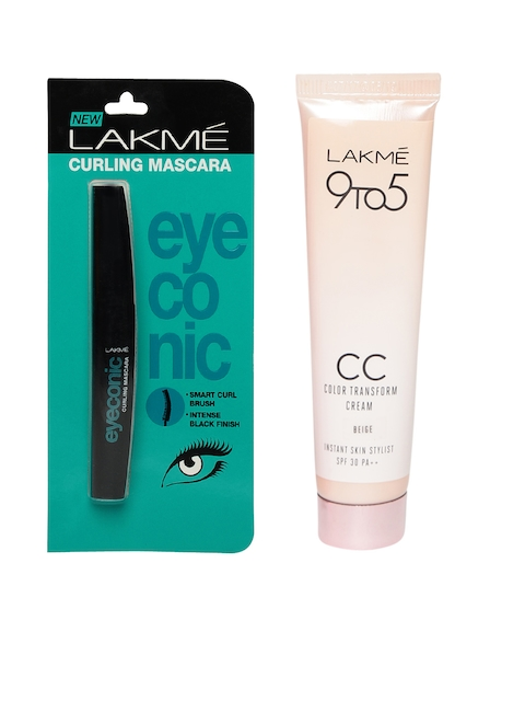 Lakme Set of Eyeconic Mascara & Colour Transform Cream