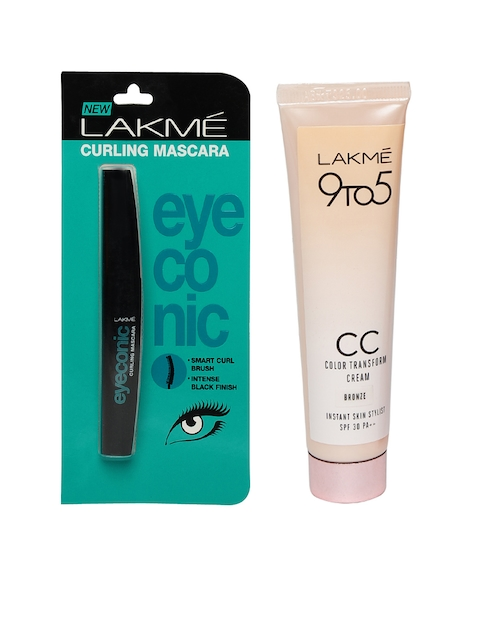 Lakme Set of Eyeconic Mascara & Transform Cream