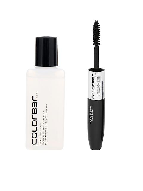 Colorbar Acetone Free Nail Enamel Remover & Women Lash Illusion Mascara