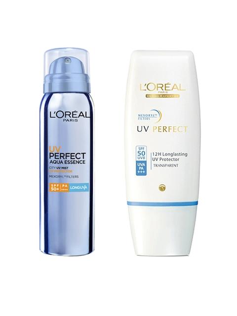 LOreal Paris Non-Tinted Sunscreen with SPF 50 & LOreal Paris Sunscreen with SPF 50+