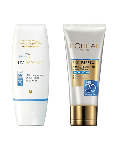 LOreal Paris Whitening Facial Foam Face Wash & LOreal Paris Sunscreen with SPF 50