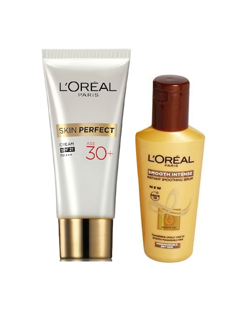 LOreal Paris Smoothing Serum 100 ml & LOreal Paris Perfect Skin 30 + Day Cream 18 g