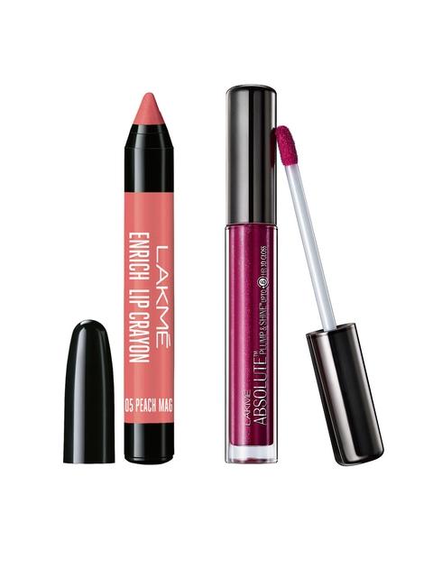 Lakme Set of Enrich Lip Crayon & Lip Gloss