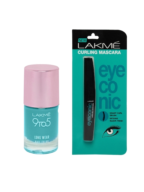 Lakme Set of Long Wear Nail Polish & Eyeconic Mascara