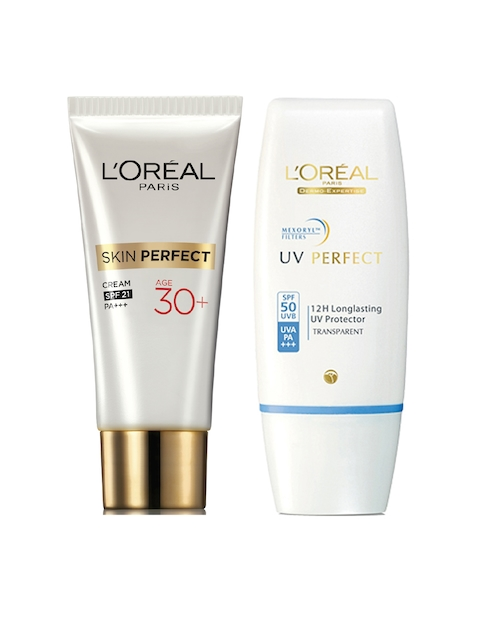 LOreal Set of Non-Tinted Sunscreen & Day Cream