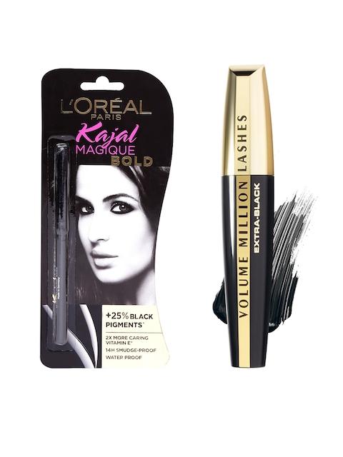 LOreal Paris Magique Bold Kajal 0.35 g & LOreal Extra-Black Volume Million Lashes Mascara