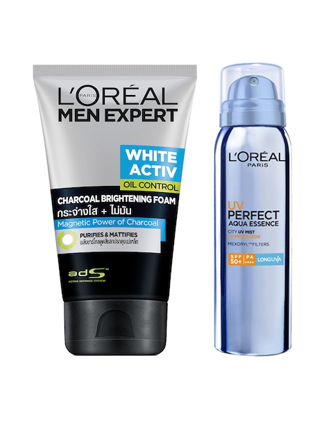 LOreal Paris Men Expert Anti-Spots & Oil Control Charcoal Foam & Sunscreen with SPF 50+