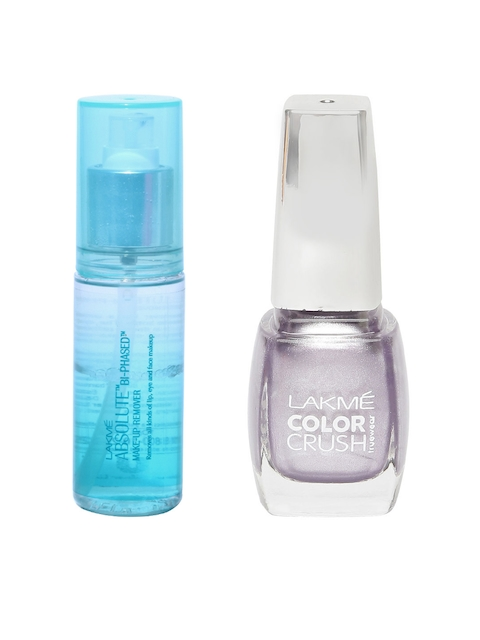 Lakme Set Of 2 Make Up Remover & Nail Color