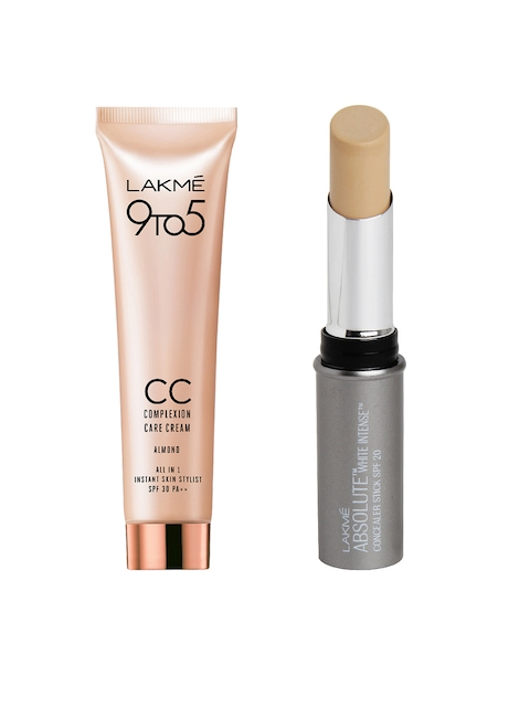 Lakme 9to5 Almond Complexion Care Cream & Lakme Absolute White Intense Concealer Stick 03