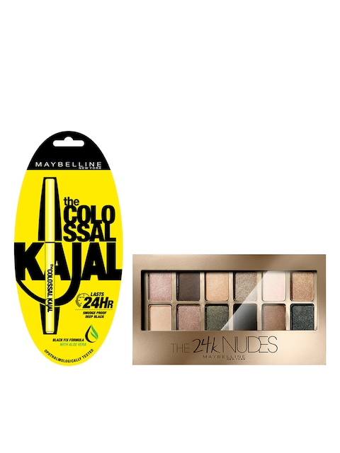 Maybelline Colossal Kajal & Gold Nude Palette Eyeshadow