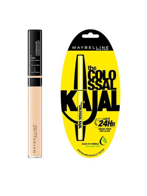Maybelline Fit Me 10 Light Concealer & Black Colossal Kajal
