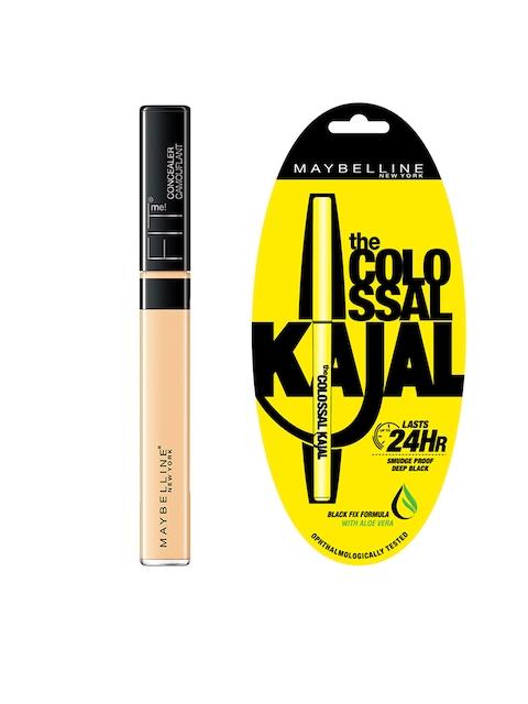 Maybelline Fit Me 25 Medium Concealer & Black Colossal Kajal