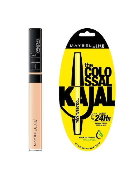 Maybelline Fit Me 20 Sand Concealer & Black Colossal Kajal