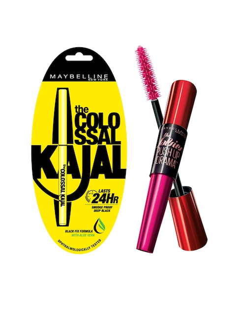 Maybelline Black Colossal Kajal & Push Up Drama Waterproof Mascara