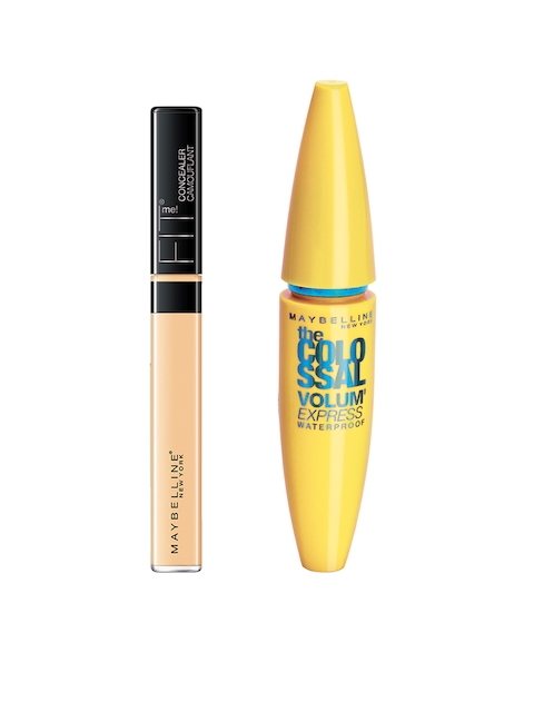Maybelline Fit Me 25 Medium Concealer & Black Volume Express Colossal Mascara