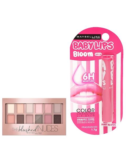 Maybellline Pink Bloom Lip Balm & The Blushed Nudes Eyeshadow Palette