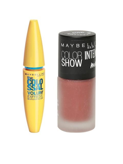 Maybelline Waterproof Black Volume Express Colossal Mascara & Chocolate Matte Nail Colour