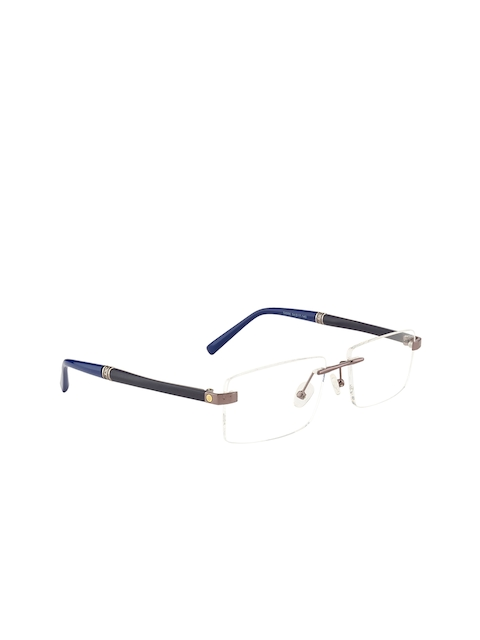 Ted Smith Unisex Grey Solid Rimless Rectangle Frames TS-54666