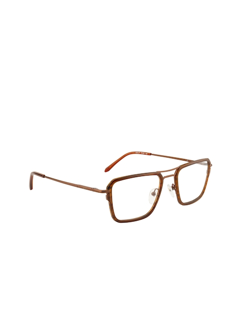 Ted Smith Unisex Brown Solid Full Rim Square Frames TS-108_BRN