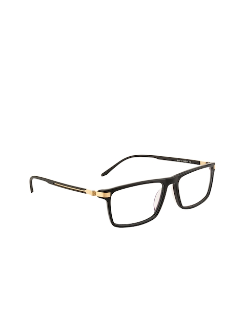 Ted Smith Unisex Black Solid Full Rim Square Frames TS-8012_C1