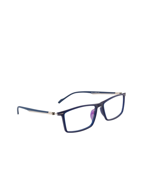 Ted Smith Unisex Blue Solid Full Rim Wayfarer Frames