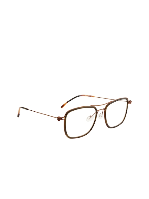 Ted Smith Unisex Brown Solid Full Rim Aviator Frames TS-106