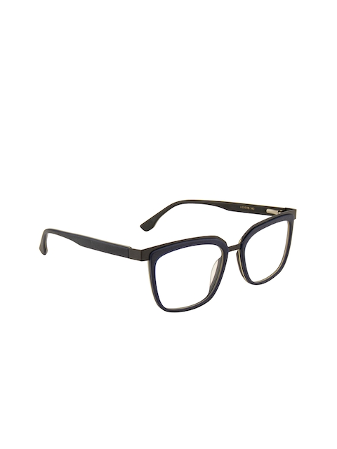Ted Smith Unisex Blue Solid Full Rim Wayfarer Frames TS-101
