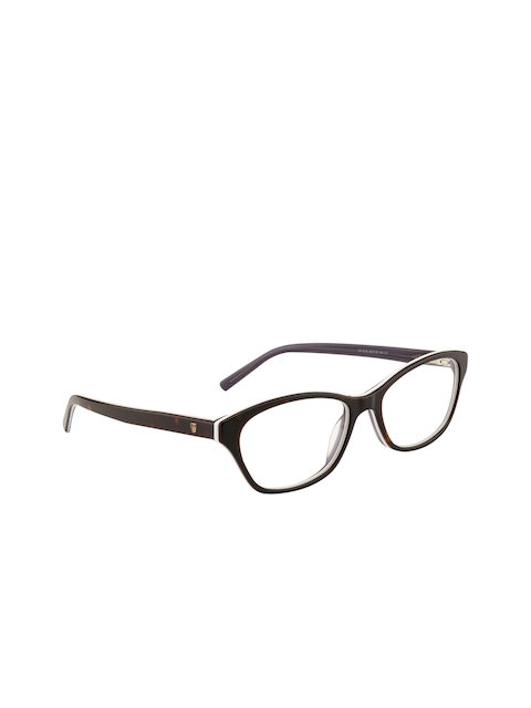 Ted Smith Women Brown Solid Full Rim Cateye Frames