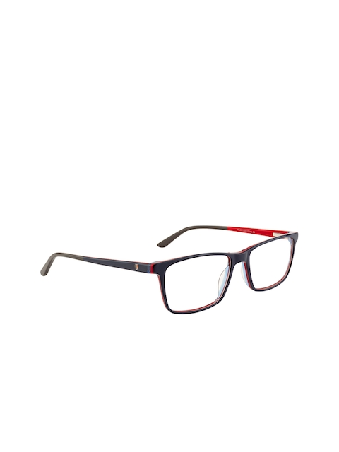 Ted Smith Unisex Blue Solid Full Rim Rectangle Frames TS-HY-223_C5