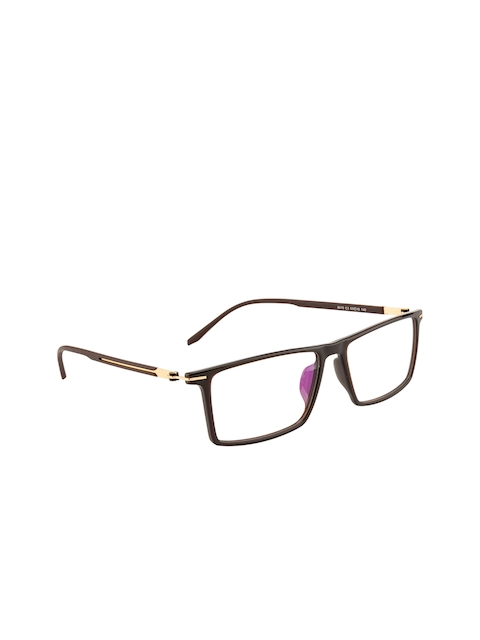 Ted Smith Unisex Brown Solid Full Rim Wayfarer Frames TS-8010_C3