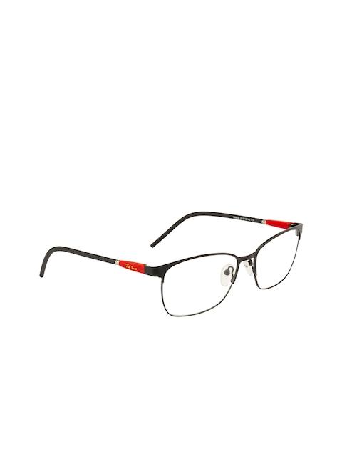 Ted Smith Unisex Black & Red Colourblocked Full Rim Wayfarer Frames