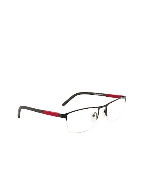 Ted Smith Unisex Black & Red Colourblocked Half Rim Rectangle Frames TSM9036_C1