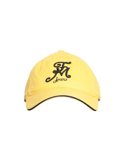 Flying Machine Men Yellow Embroidered Baseball Cap